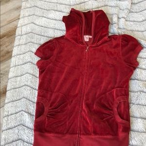 Juicy couture velour track suit jacket short slve